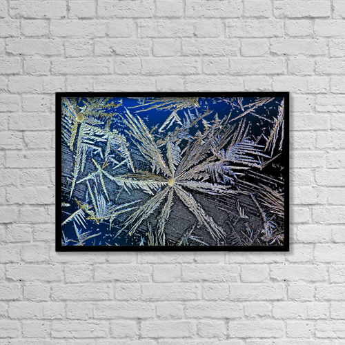 "Printscapes Wall Art: 18"" x 12"" Canvas Print With Black Frame - Weather by Michael Interisano"