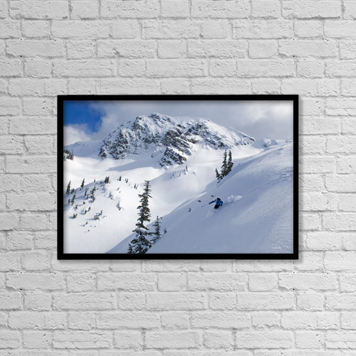"Printscapes Wall Art: 18"" x 12"" Canvas Print With Black Frame - Sports and Recreation by Kurt Werby"