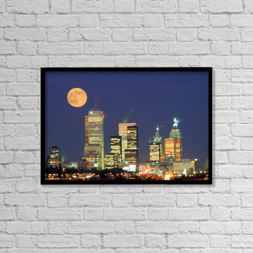 "Printscapes Wall Art: 18"" x 12"" Canvas Print With Black Frame - Travel by Ron Watts"