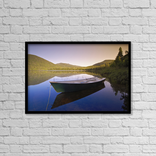 """Printscapes Wall Art: 18"""" x 12"""" Canvas Print With Black Frame - Transportation by Yves Marcoux"""