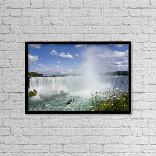 "Printscapes Wall Art: 18"" x 12"" Canvas Print With Black Frame - Scenic by Peter Mintz"