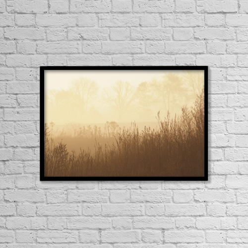 "Printscapes Wall Art: 18"" x 12"" Canvas Print With Black Frame - Scenic by Cindy Pichette"
