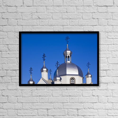 "Printscapes Wall Art: 18"" x 12"" Canvas Print With Black Frame - St by Ken Gillespie"