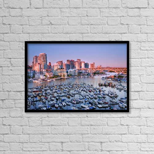 """Printscapes Wall Art: 18"""" x 12"""" Canvas Print With Black Frame - Scenic by Mathieu Dupuis"""