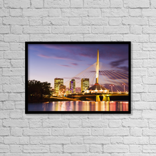 "Printscapes Wall Art: 18"" x 12"" Canvas Print With Black Frame - Travel by Yves Marcoux"