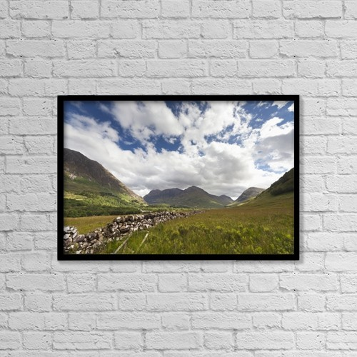 "Printscapes Wall Art: 18"" x 12"" Canvas Print With Black Frame - Architectural Exteriors by John Short"