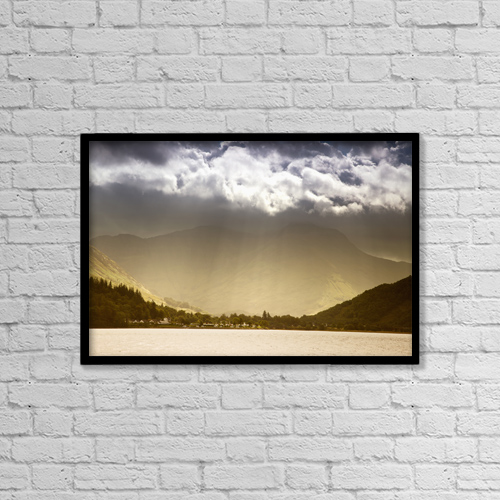 "Printscapes Wall Art: 18"" x 12"" Canvas Print With Black Frame - Scenic by John Short"