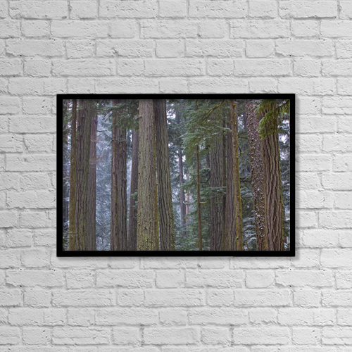 "Printscapes Wall Art: 18"" x 12"" Canvas Print With Black Frame - Travel by Robert Postma"