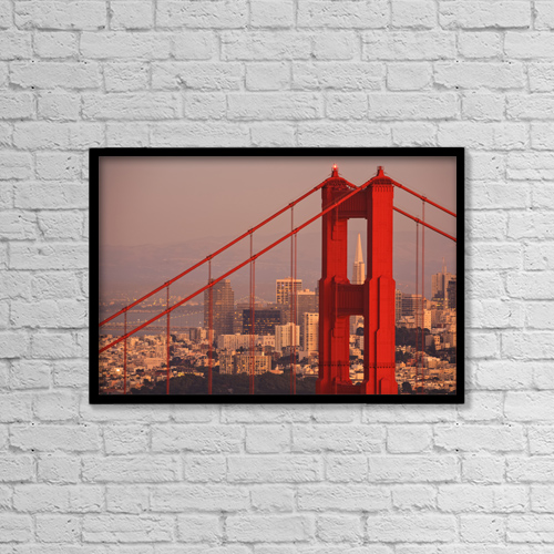 "Printscapes Wall Art: 18"" x 12"" Canvas Print With Black Frame - Architectural Exteriors by Stuart Westmorland"
