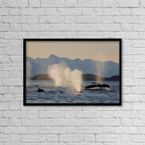 """Printscapes Wall Art: 18"""" x 12"""" Canvas Print With Black Frame - Sports and Recreation by John Hyde"""