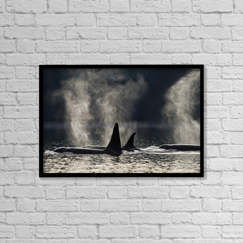 "Printscapes Wall Art: 18"" x 12"" Canvas Print With Black Frame - Sports and Recreation by John Hyde"