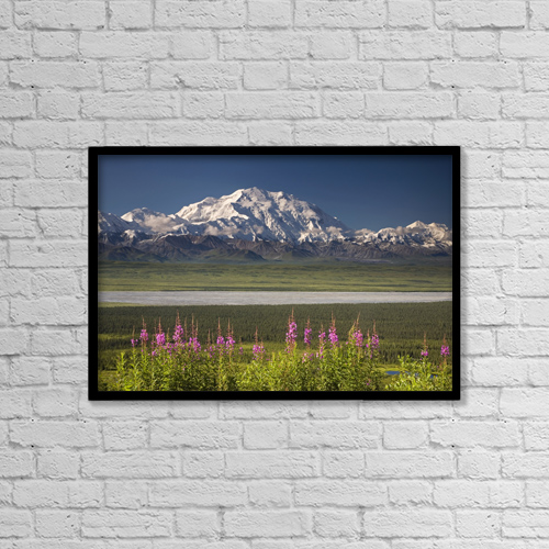 "Printscapes Wall Art: 18"" x 12"" Canvas Print With Black Frame - Mt by Jeff Schultz"