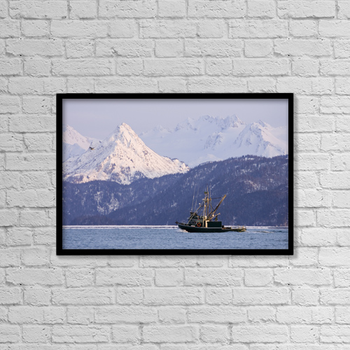 """Printscapes Wall Art: 18"""" x 12"""" Canvas Print With Black Frame - Scenic by Scott Dickerson"""