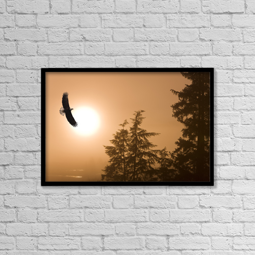 "Printscapes Wall Art: 18"" x 12"" Canvas Print With Black Frame - Animals by John Hyde"