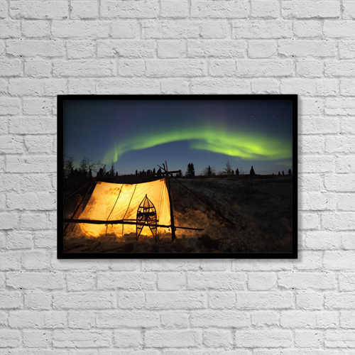 "Printscapes Wall Art: 18"" x 12"" Canvas Print With Black Frame - Astronomy by Richard Wear"