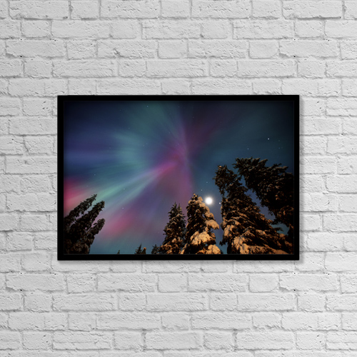"Printscapes Wall Art: 18"" x 12"" Canvas Print With Black Frame - Scenic by Daryl Pederson"