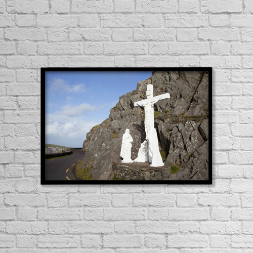 "Printscapes Wall Art: 18"" x 12"" Canvas Print With Black Frame - Christian Faith by Peter Zoeller"