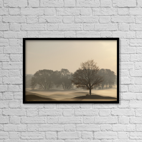 "Printscapes Wall Art: 18"" x 12"" Canvas Print With Black Frame - Weather by Ron Bouwhuis"
