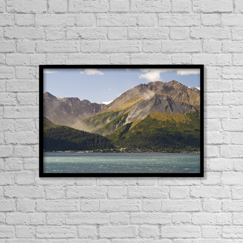 "Printscapes Wall Art: 18"" x 12"" Canvas Print With Black Frame - View Of Mt by Matt Hage"