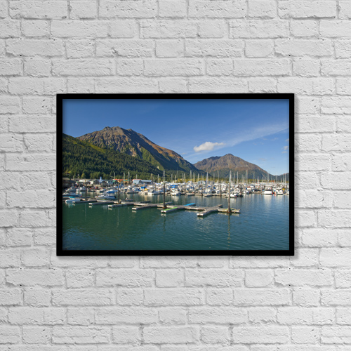 "Printscapes Wall Art: 18"" x 12"" Canvas Print With Black Frame - Scenic by Bill Scott"