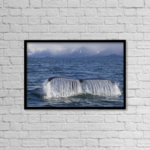 "Printscapes Wall Art: 18"" x 12"" Canvas Print With Black Frame - Scenic by Milo Burcham"