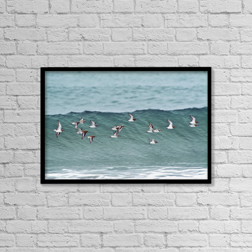"Printscapes Wall Art: 18"" x 12"" Canvas Print With Black Frame - Sports and Recreation by Brian Guzzetti"