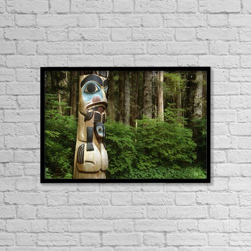 """Printscapes Wall Art: 18"""" x 12"""" Canvas Print With Black Frame - Travel by Peter Barrett"""