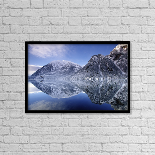 "Printscapes Wall Art: 18"" x 12"" Canvas Print With Black Frame - Scenic by Chip Porter"