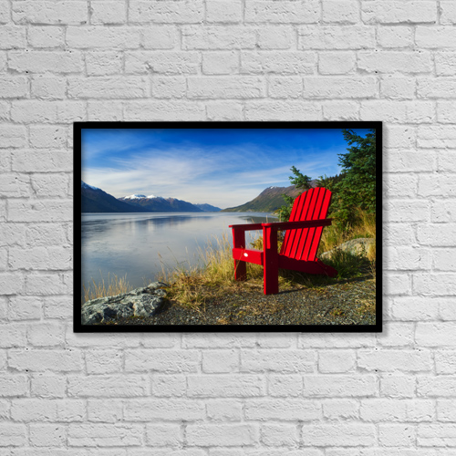 "Printscapes Wall Art: 18"" x 12"" Canvas Print With Black Frame - Scenic by Randy Brandon"