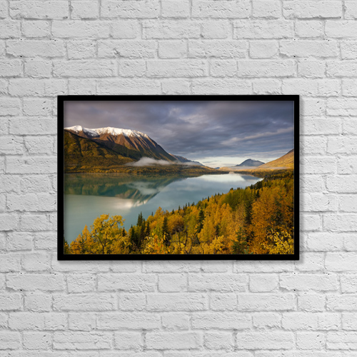 "Printscapes Wall Art: 18"" x 12"" Canvas Print With Black Frame - Scenic by Kent Fredriksson"