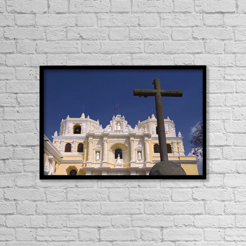 "Printscapes Wall Art: 18"" x 12"" Canvas Print With Black Frame - Christian Faith by Richard Maschmeyer"