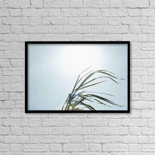 "Printscapes Wall Art: 18"" x 12"" Canvas Print With Black Frame - Nature by Bruno Crescia"