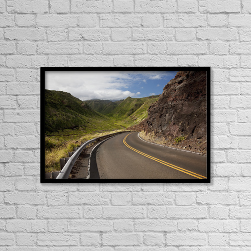 "Printscapes Wall Art: 18"" x 12"" Canvas Print With Black Frame - Transportation by Jenna Szerlag"