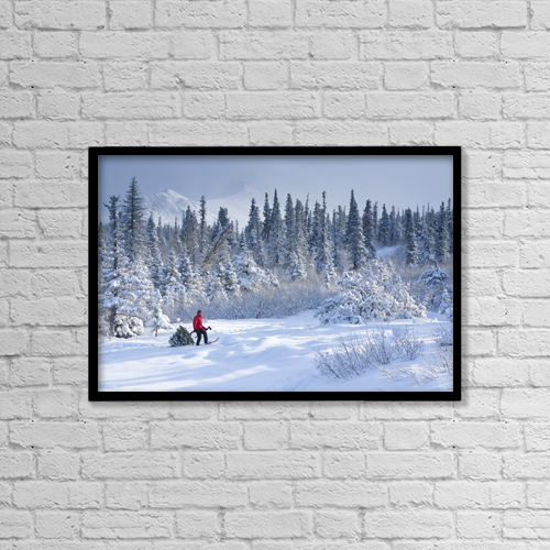 "Printscapes Wall Art: 18"" x 12"" Canvas Print With Black Frame - Sports and Recreation by Jeff Schultz"