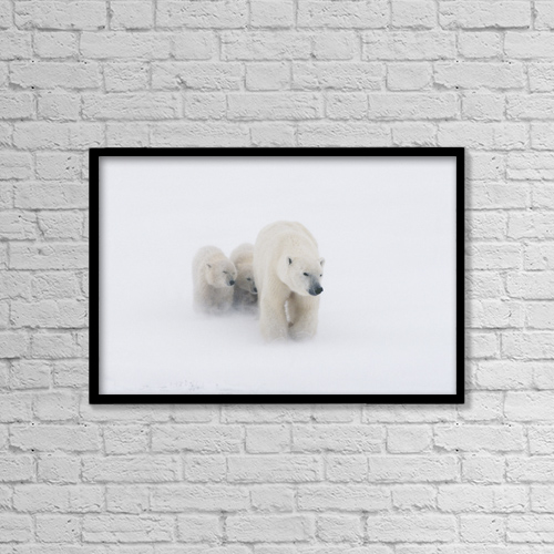 """Printscapes Wall Art: 18"""" x 12"""" Canvas Print With Black Frame - Lifestyle by Kenneth Whitten"""