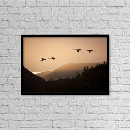 "Printscapes Wall Art: 18"" x 12"" Canvas Print With Black Frame - Lifestyle by John Hyde"