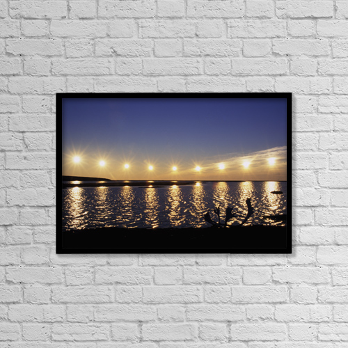 "Printscapes Wall Art: 18"" x 12"" Canvas Print With Black Frame - Scenic by Jo Overholt"