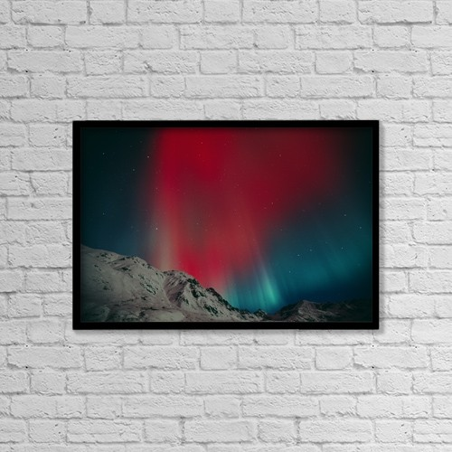 "Printscapes Wall Art: 18"" x 12"" Canvas Print With Black Frame - Scenic by Greg Hensel"