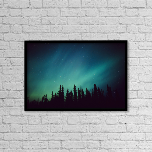"Printscapes Wall Art: 18"" x 12"" Canvas Print With Black Frame - Nature by Greg Hensel"