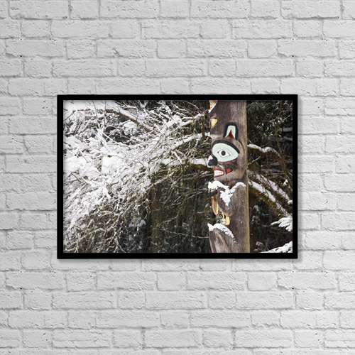 """Printscapes Wall Art: 18"""" x 12"""" Canvas Print With Black Frame - Animals by Joel Bennett"""