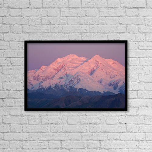"""Printscapes Wall Art: 18"""" x 12"""" Canvas Print With Black Frame - Mt by Jeff Schultz"""