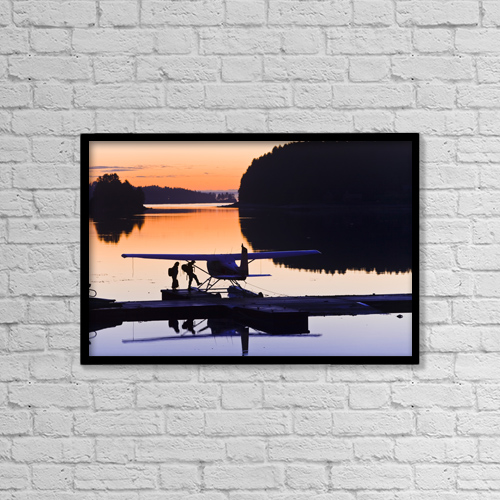 "Printscapes Wall Art: 18"" x 12"" Canvas Print With Black Frame - Travel by Michael DeYoung"