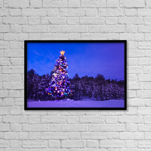 "Printscapes Wall Art: 18"" x 12"" Canvas Print With Black Frame - Nature by Michael DeYoung"