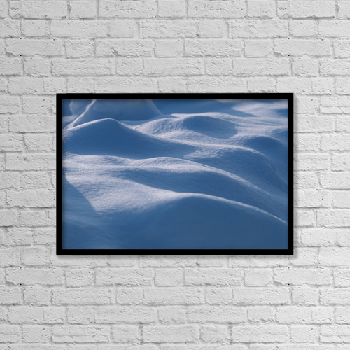 "Printscapes Wall Art: 18"" x 12"" Canvas Print With Black Frame - Close-Up Of Snow Pattern Alaska by Chris Arend"