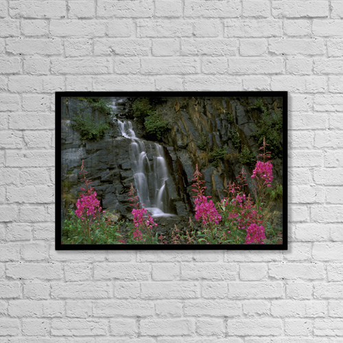 "Printscapes Wall Art: 18"" x 12"" Canvas Print With Black Frame - Nature by Calvin Hall"