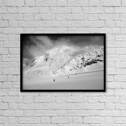 """Printscapes Wall Art: 18"""" x 12"""" Canvas Print With Black Frame - Scenic by Carl R. Battreall"""