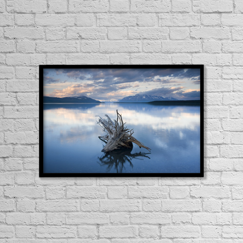 "Printscapes Wall Art: 18"" x 12"" Canvas Print With Black Frame - Scenic by Carl R. Battreall"