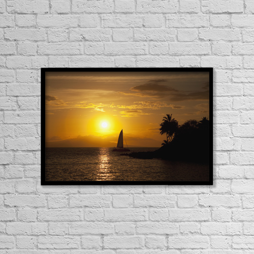 "Printscapes Wall Art: 18"" x 12"" Canvas Print With Black Frame - Scenic by Jenna Szerlag"