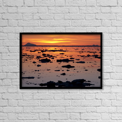 "Printscapes Wall Art: 18"" x 12"" Canvas Print With Black Frame - Scenic by Hal Gage"