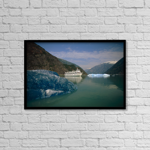 "Printscapes Wall Art: 18"" x 12"" Canvas Print With Black Frame - Scenic by Mark Kelley"